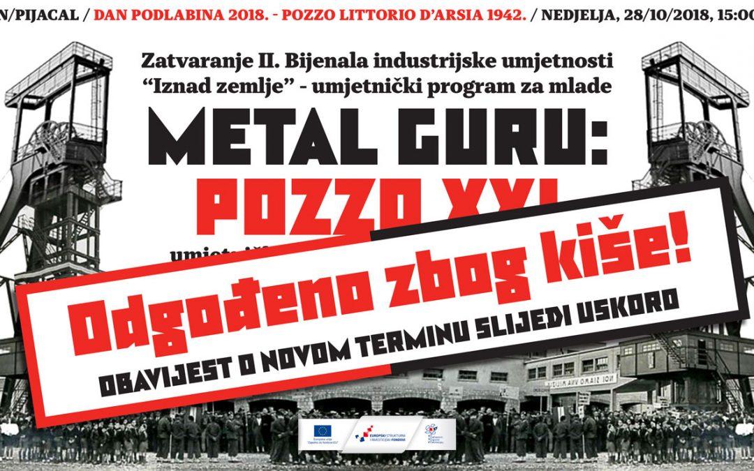 Performans POZZO XXI Metal Gurua se odgađa!